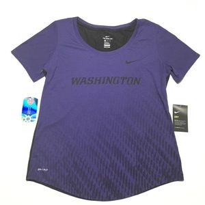 NIKE Dri • NWT Washington College Scoop Neck Tee